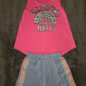 Freestyle Revolution Pnk Tank&Gry Shorts
